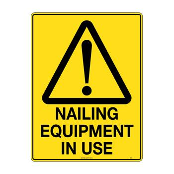 Nailing Equipment In Use
