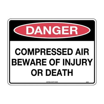 Compressed Air Beware of Injury or Death