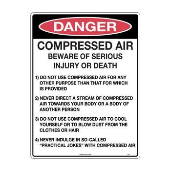 Compressed Air Beware of Serious Injury or Death Detailed