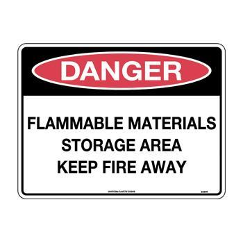 Flammable Materials Storage Area Keep Fire Away