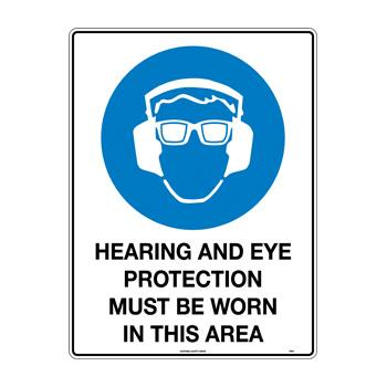 Hearing and Eye Protection Must Be Worn